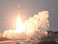 This photo taken the launch of an H2A rocket from the Tanegashima Space Center in Kagoshima Prefecture, southwestern Japan, on Nov. 29, 2020. (Mainichi)