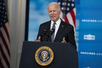 U.S. President Joe Biden delivers remarks about COVID-19 vaccinations in the South Court Auditorium at the White House on May 12, 2021, in Washington. (AP Photo/Evan Vucci)