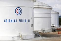 ハッカー攻撃を受けたコロニアル・パイプライン社の石油タンク(アラバマ州) (Bloomberg)