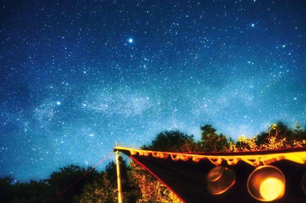 夜は満天の星を一望できることも 筆者撮影