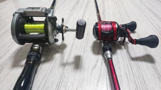 釣り具も小型化、軽量化を遂げている 筆者提供