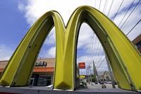 This April 30, 2019, file photo, shows a McDonald's restaurant on the Northside of Pittsburgh. (AP Photo/Gene J. Puskar)
