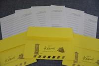 Letters and envelopes used in the Miyazaki Koibumi project are seen at Miyazaki City Hall on May 10, 2021. (Mainichi/Syunsuke Ichimiya)