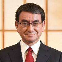 Japan's COVID-19 vaccination policy head Taro Kono (Mainichi)