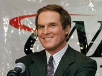 """Actor/comedian Charles Grodin appears at a news conference announcing him as host of CNBC's new primetime show """"Charles Grodin"""" in New York on Nov. 15, 1994. (AP Photo/Marty Lederhandler)"""