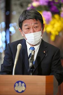 Japanese Foreign Minister Toshimitsu Motegi. (Pool photo)
