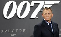 In this Oct. 28, 2015, file photo, actor Daniel Craig poses for the media as he arrives for the German premiere of the James Bond movie 'Spectre' in Berlin, Germany. (AP Photo/Michael Sohn)