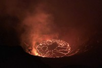 This Dec. 28, 2020, file photo provided by the U.S. Geological Survey shows the eruption at Hawaii's Kilauea Volcano. (D. Downs/U.S. Geological Survey via AP)