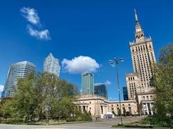 ワルシャワはデジタル化の拠点としても重要な都市となった 筆者撮影