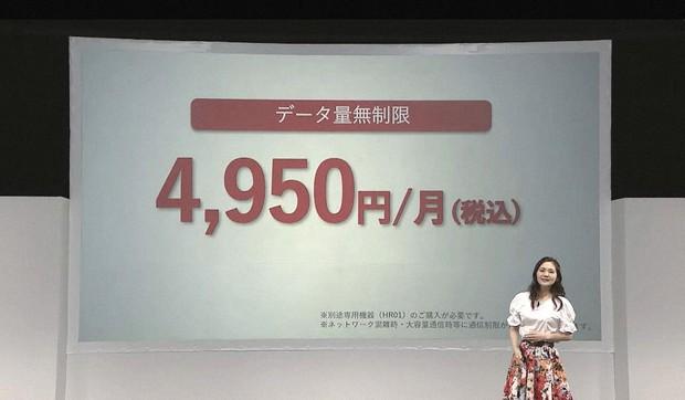 料金は月4950円。スマホ側の回線もドコモにすると1回線ごとに1100円の割引がある