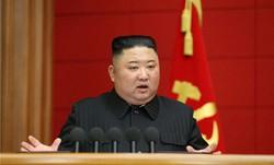 朝鮮労働党の第1回市・郡党責任書記講習会4日目会議で演説する金正恩総書記=平壌・党中央委員会本部会議室で2021年3月6日(朝鮮中央通信=朝鮮通信)