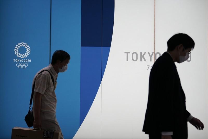 五輪の開催予定日が迫る東京。開催反対の声が高まっている(東京都内) (Bloomberg)