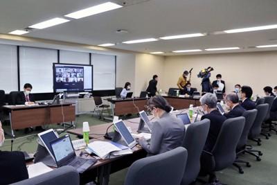 厚生労働省で開かれたワクチン分科会副反応検討部会=東京都千代田区で2021年3月12日午後1時2分、幾島健太郎撮影