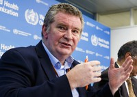 In this Feb. 5, 2020 file photo, Dr. Michael Ryan, executive director of the World Health Organization's Health Emergencies program, speaks during a news conference at the WHO headquarters in Geneva, Switzerland. (Salvatore Di Nolfi/Keystone via AP)