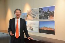 Interviewer 藤枝克治(本誌編集長) Photo 武市公孝:横浜市の本社で、ロシアやカタールの案件を背景に