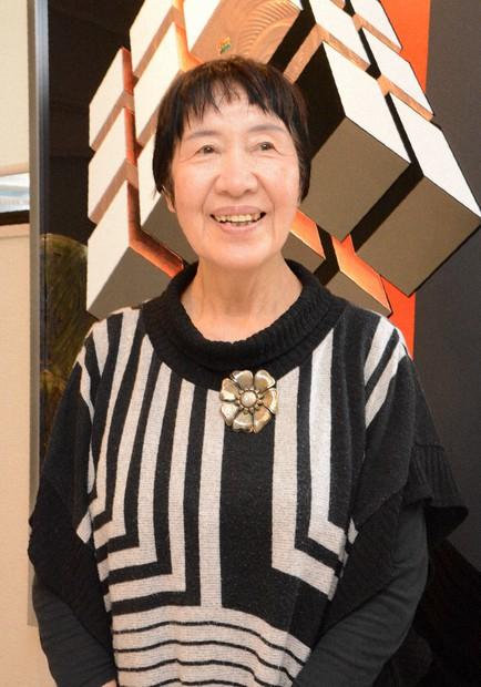 Toshiko Tanaka is seen in this photo taken in Hiroshima's Higashi Ward. (Mainichi/Kazuki Ikeda)