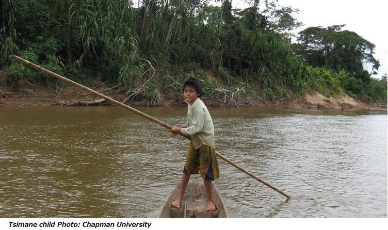 チマネ族の少年=チャプマン大提供