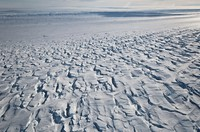 This January 2010 photo provided by Ian Joughin shows the area near the grounding line of the Pine Island Glacier along its west side in Antarctica. (Ian Joughin via AP)