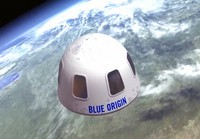 This undated file illustration provided by Blue Origin shows the capsule that the company aims to take tourists into space. (Blue Origin via AP, File)