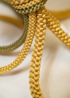A traditional kumihimo braided cord made using the