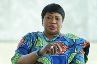 International Criminal Court Prosecutor Fatou Bensouda speaks during an interview with The Associated Press in The Hague, Netherlands, on June 14, 2021. (AP Photo/Peter Dejong)
