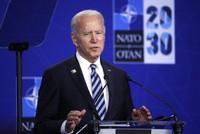 U.S. President Joe Biden speaks during a media conference during a NATO summit in Brussels, on June 14, 2021. (Olivier Hoslet, Pool via AP)