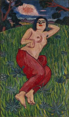 萬鉄五郎≪裸体美人≫1912年、重要文化財