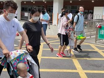 少子化が急速に進む中国=北京市内で2021年6月11日、小倉祥徳撮影