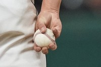 Cleveland Indians relief pitcher James Karinchak holds the ball between pitches during the eighth inning of the team's baseball game against the Baltimore Orioles on June 15, 2021, in Cleveland. (AP Photo/Tony Dejak)