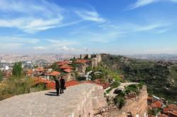 アンカラ城から眺めたアンカラ市街=筆者撮影