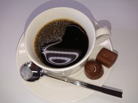 This Aug. 3, 2020 image taken in the city of Nara shows coffee and chocolate, which are among items that individuals commonly claim to be unable to taste or smell after contracting the coronavirus. (Mainichi/Satoshi Kubo)