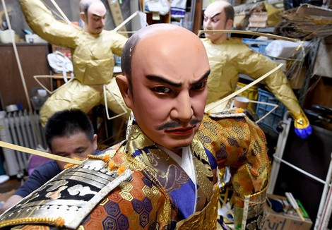 In Photos: Traditional dolls crafted for colorful Fukuoka festival float