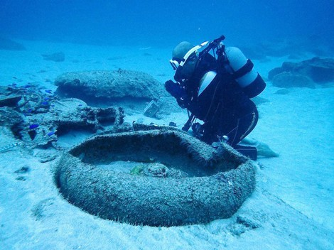 In Photos: Wreckage of sunken Imperial Japanese Navy bomber surveyed for human remains