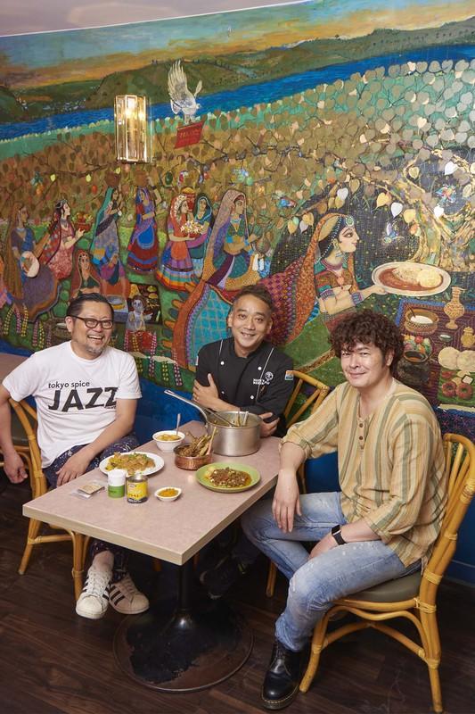 伊東盛さん、ナイル善己さん、シャンカール・ノグチさん(左から)