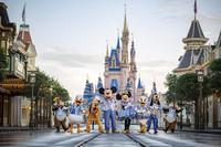 This undated photo provided by Walt Disney World shows Disney characters at Walt Disney World in Lake Buena Vista, Fla. Walt Disney World is planning an 18-month celebration in honor of its 50th anniversary, starting in October 2021. (Matt Stroshane/Walt Disney World via AP)