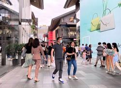 高級ブランドが並ぶ中国・成都の商業施設「成都遠洋太古里」 筆者撮影