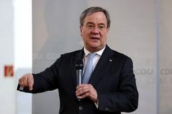 CDUのラシェット党首(首相候補)は支持率も上昇(今年5月、ドイツ東部ブラウンスベドラで) (Bloomberg)