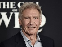 """Harrison Ford attends the premiere of """"The Call of the Wild"""" in Los Angeles on Feb. 13, 2020. (Photo by Richard Shotwell/Invision/AP)"""