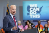 U.S. President Joe Biden speaks at the Green Road Community Center in Raleigh, North Carolina, on June 24, 2021. (AP Photo/Susan Walsh)