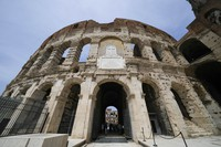 A view of the ancient Colosseum, in Rome, on June 25, 2021. (AP Photo/Andrew Medichini)