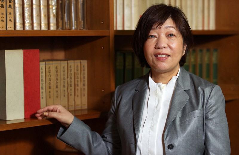 Penulis Mariko Hayashi = Diambil oleh Yuki Miyatake pada 23 April 2021 di Shinjuku-ku, Tokyo
