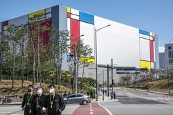 投資が進むサムスン電子の半導体工場(韓国・平沢市) (Bloomberg)