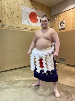Yokozuna Hakuho. (Pool)