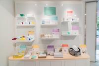 This image provided by femtech company Fermata shows menstrual cups and other women's health items.