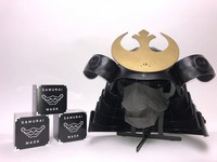 The Samurai Mask resembling menbo face armor is displayed in Minamisoma, Fukushima Prefecture, on July 1, 2021. (The helmet is not for sale.) (Mainichi/Shuji Ozaki)