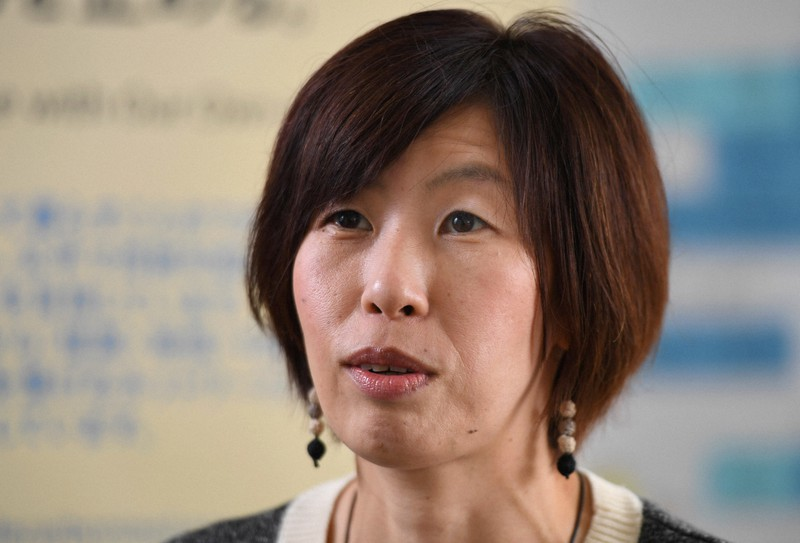 """Ibu Hitoko Hirata, Direktur Climate Network, terpilih untuk """"Goldman Environmental Prize"""" = Difoto oleh Riko Maeda pada 16 Juni 2021 di Chiyoda-ku, Tokyo"""