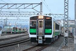 現在の只見線の列車。会津川口-只見間が不通となっている=筆者撮影