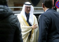 In this March 6, 2020 file photo, Prince Abdulaziz bin Salman Al-Saud, Minister of Energy of Saudi Arabia, arrives for a meeting of the Organization of the Petroleum Exporting Countries, OPEC, and non-OPEC members at the OPEC headquarters in Vienna, Austria. (AP Photo/Ronald Zak)