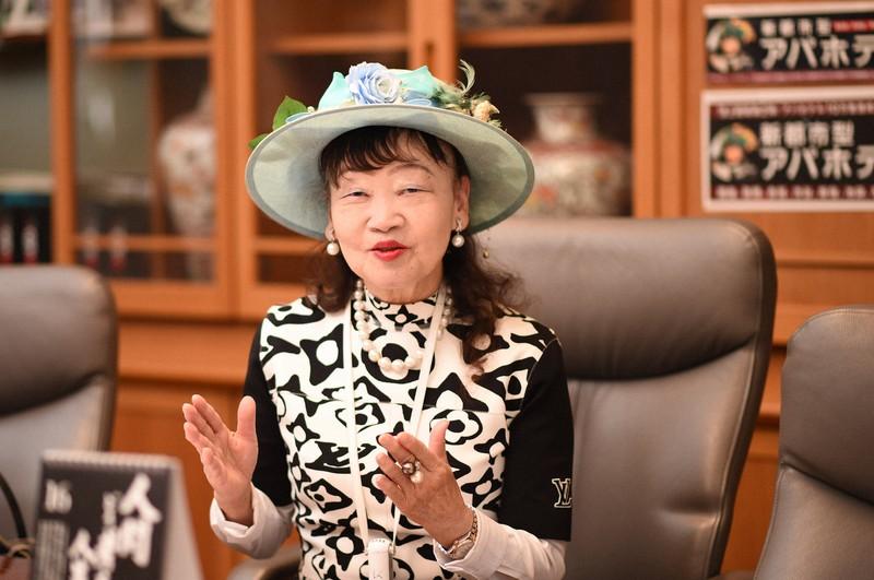 アパホテルの元谷芙美子社長=東京都港区で、丸山博撮影