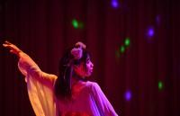 Strip show dancer Yukina is seen dancing in the final performance on the day Hiroshima Daiichi Gekijyou in the city's Naka Ward closed, as seen in this May 2021 photo. (Mainichi/Naohiro Yamada)